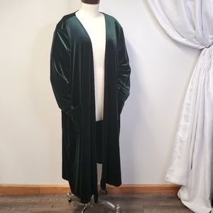 LULAROE Velvet Sarah Duster Cardigan Sweater Green